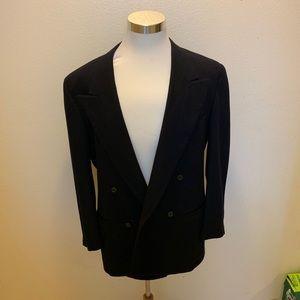 Gianni Versace blazer L Blue Wool Vintage